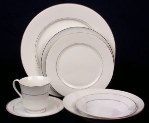 New Party Rental Item. Gold Banded China