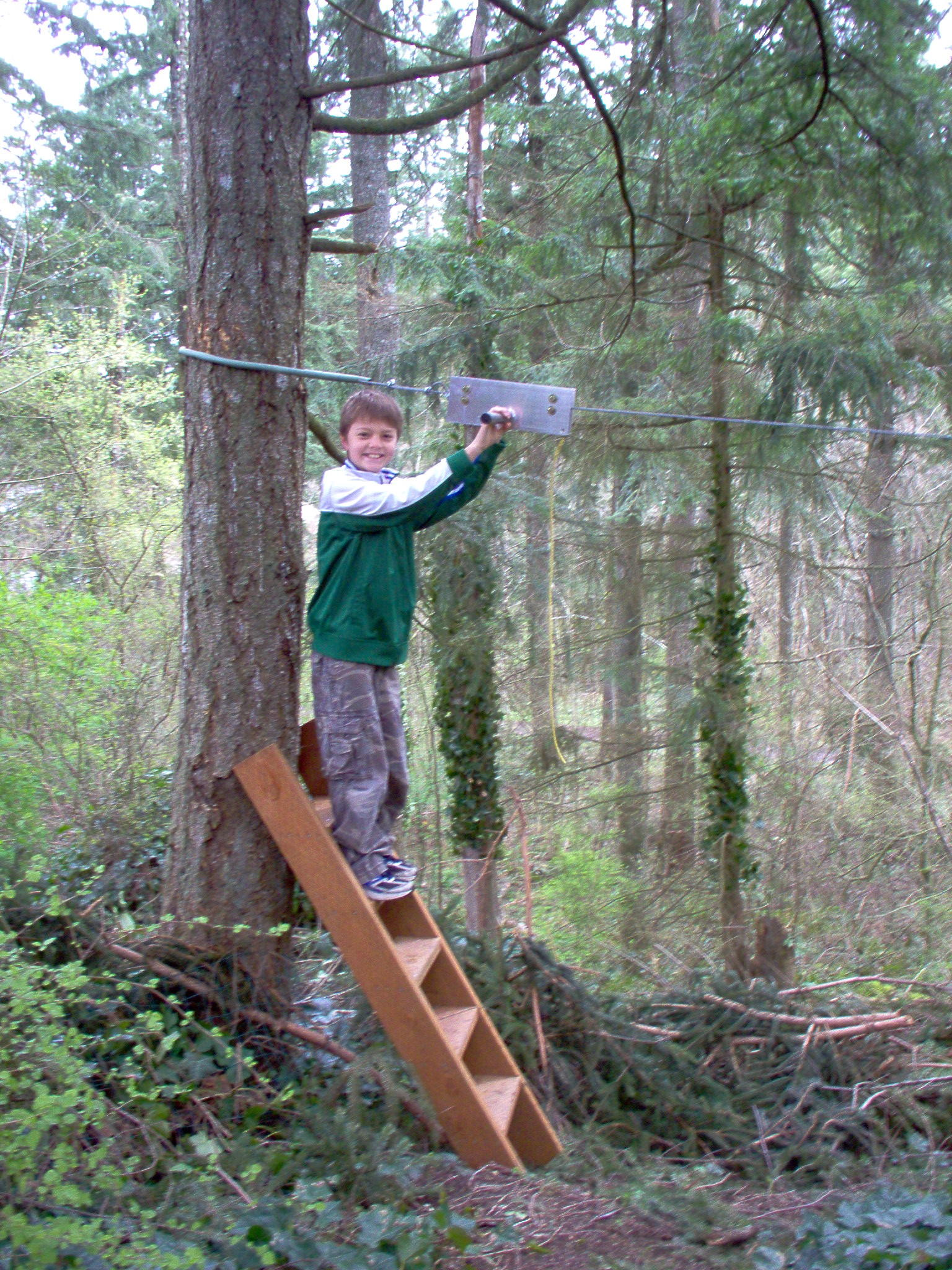 125 ft D&D Flyer Zip Line Kit, Cable Ride for Backyard ...