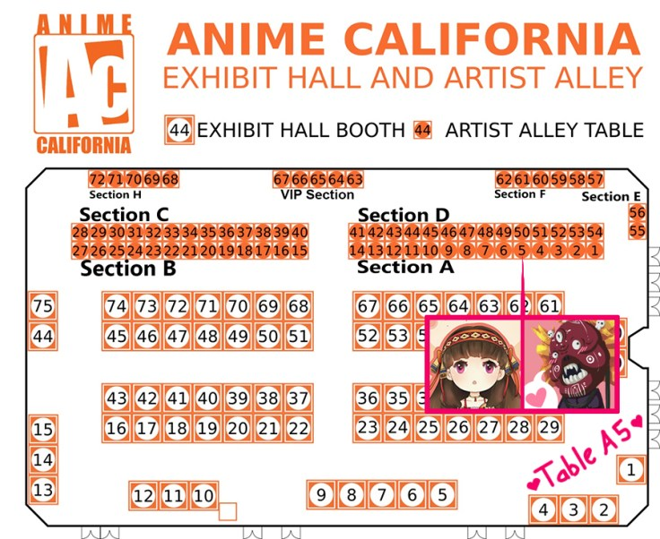 We were located at table A5.