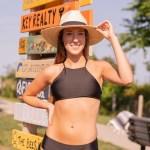 Hemp Black Athletic Racer Back Bikini