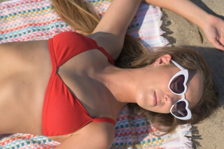Hemp Red Brazilian Thong Bikini