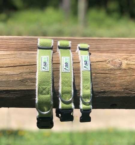 Fleece Lined Dog Collar - Green