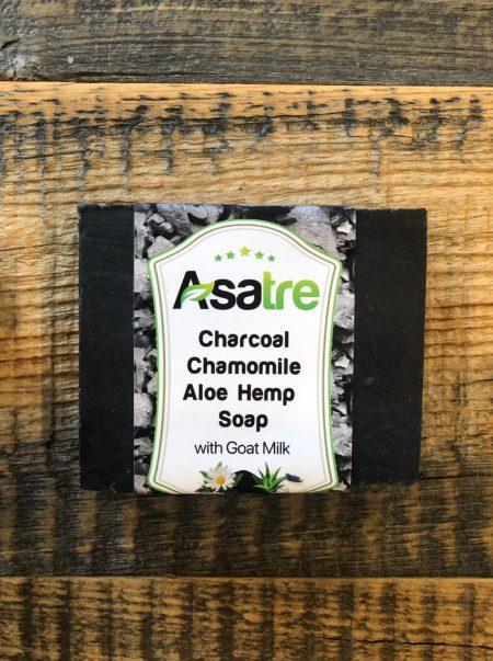 Charcoal Aloe Hemp Goat Milk Soap