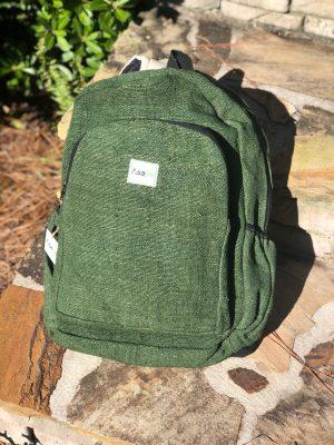 Handmade Himalayan Hemp Backpacks Dk Green