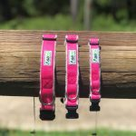 Hemp Pink Dog Collars