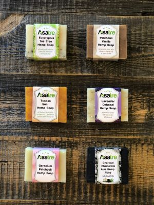 Asatre Natural Handmade Hemp Soap Bundle of 6