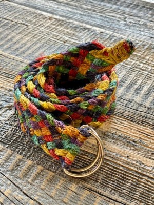 Hemp Boho Hemp Belt Braided Multicolor