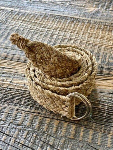Handmade Himalayan Hemp Plain Braided Belt