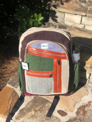Hemp Backpack Multi Color Casual