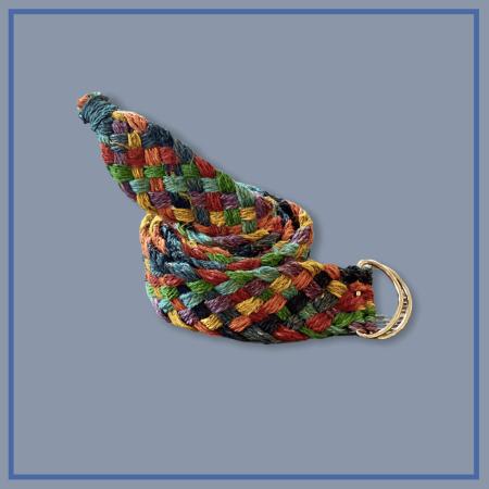 Eco-friendly Hemp Rainbow Braided Belt