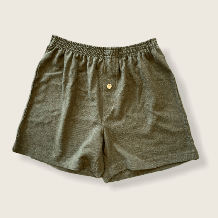 Hemp and Organic Cotton Boxers by Asatre - Olive