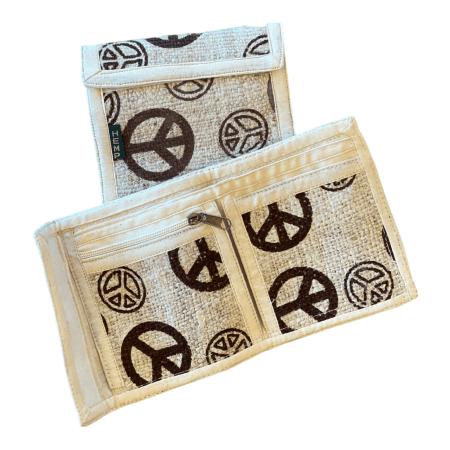 Hemp Bi-Fold Peace Wallet