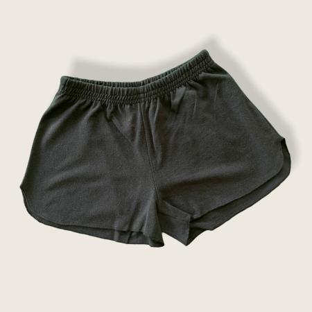 Hemp and Organic Cotton Jersey Running Shorts - Black