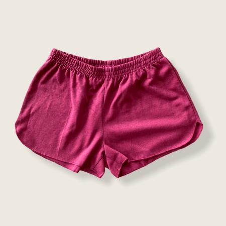 Hemp and Organic Cotton Jersey Running Shorts - Cranberry