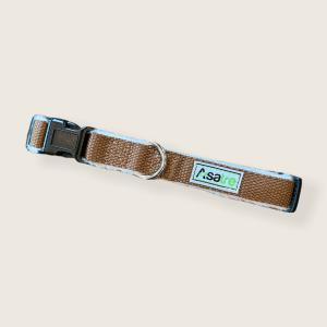 Hemp Dog Collar - Chocolate Brown