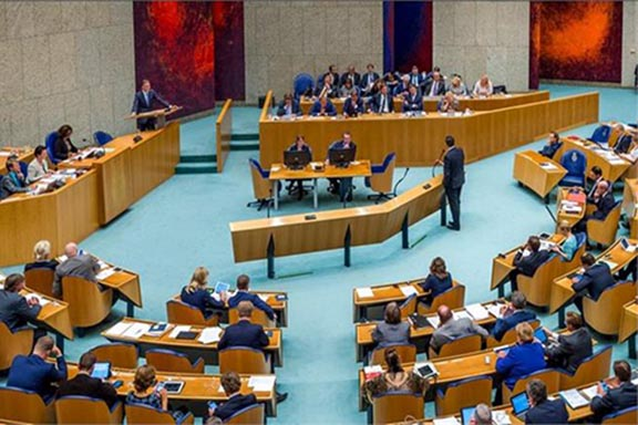 The chambers of the Dutch Parliament,  known as Tweede Kamer