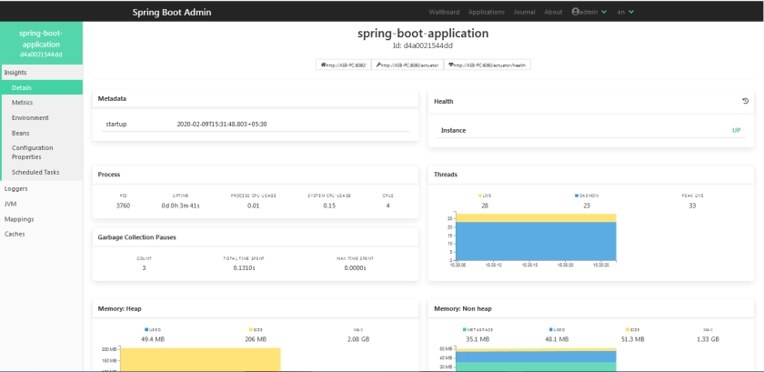 Spring boot admin 2.0 example