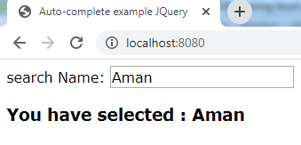 Jquery autocomplete example spring thymeleaf