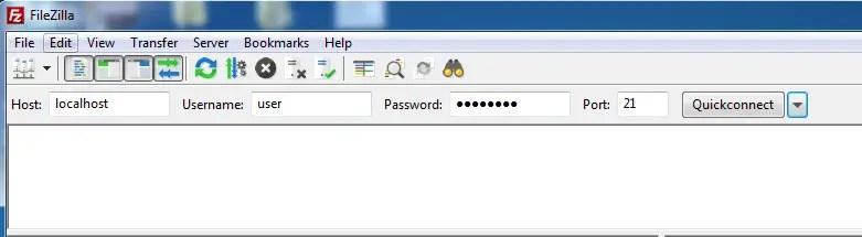 FTP server setup using Filezilla on windows
