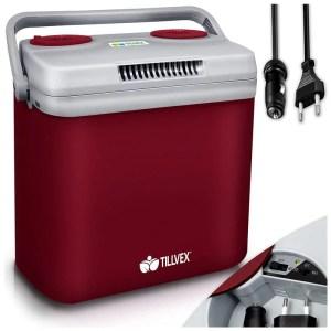 Tillvex elektromos hűtődoboz 32 L-es-piros
