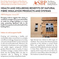 Health and wellbeing benefits of natural fibre insulation products and systems