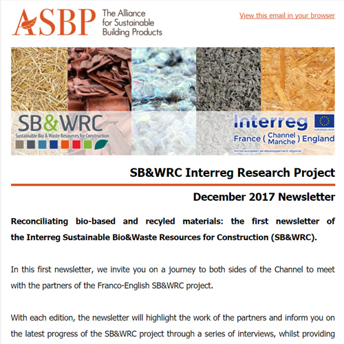 SB&WRC Interreg Project - December 2017 Newsletter