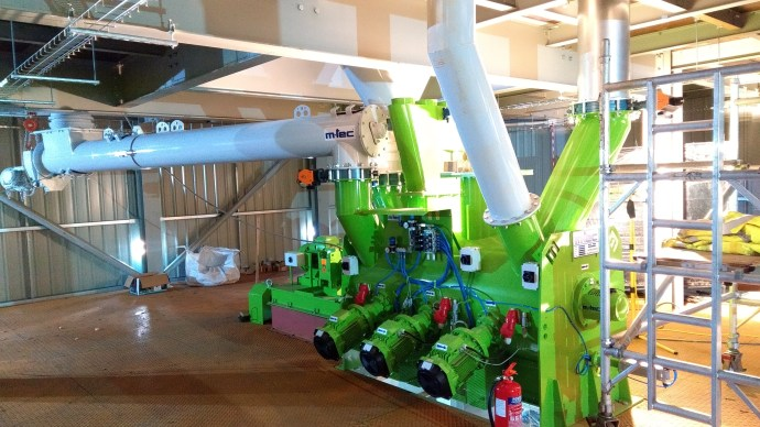 Lime Green Product's new processing plant