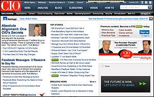 CIO.com home page