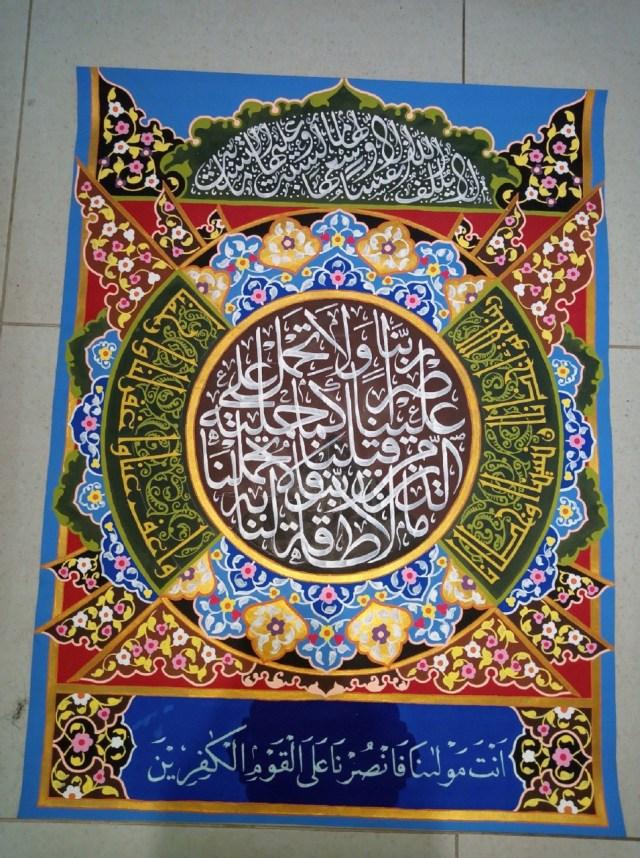 Tahapan Proses Membuat Kaligrafi Dekorasi Ukm Asc