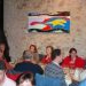 repas au Grand Réal après la soirée diapo du 18 avril 09