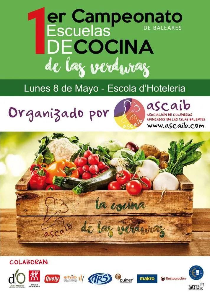 1er Campeonato de Escuelas de Cocina de Baleares - Cocina de las verduras