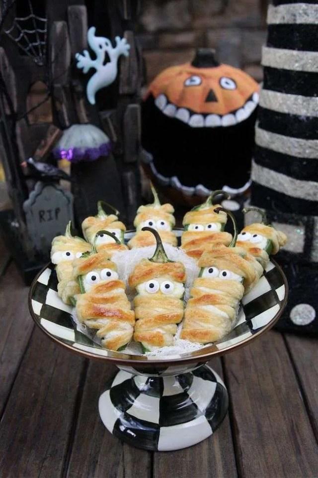 Pimientos Rellenos Estilo Halloween