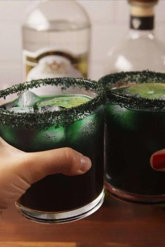 Margaritas Magia Negra. Estilo Halloween