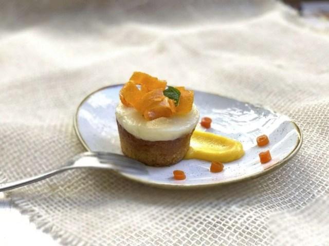 Carrot cake sin gluten con cremoso de jengibre