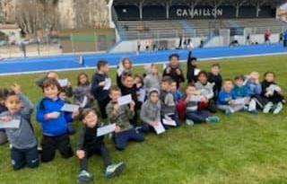 Compétition éveils et poussins en interne au stade Pagnetti coachée par Anais Fourniller, Matthieu Presson et Fanny Lafon