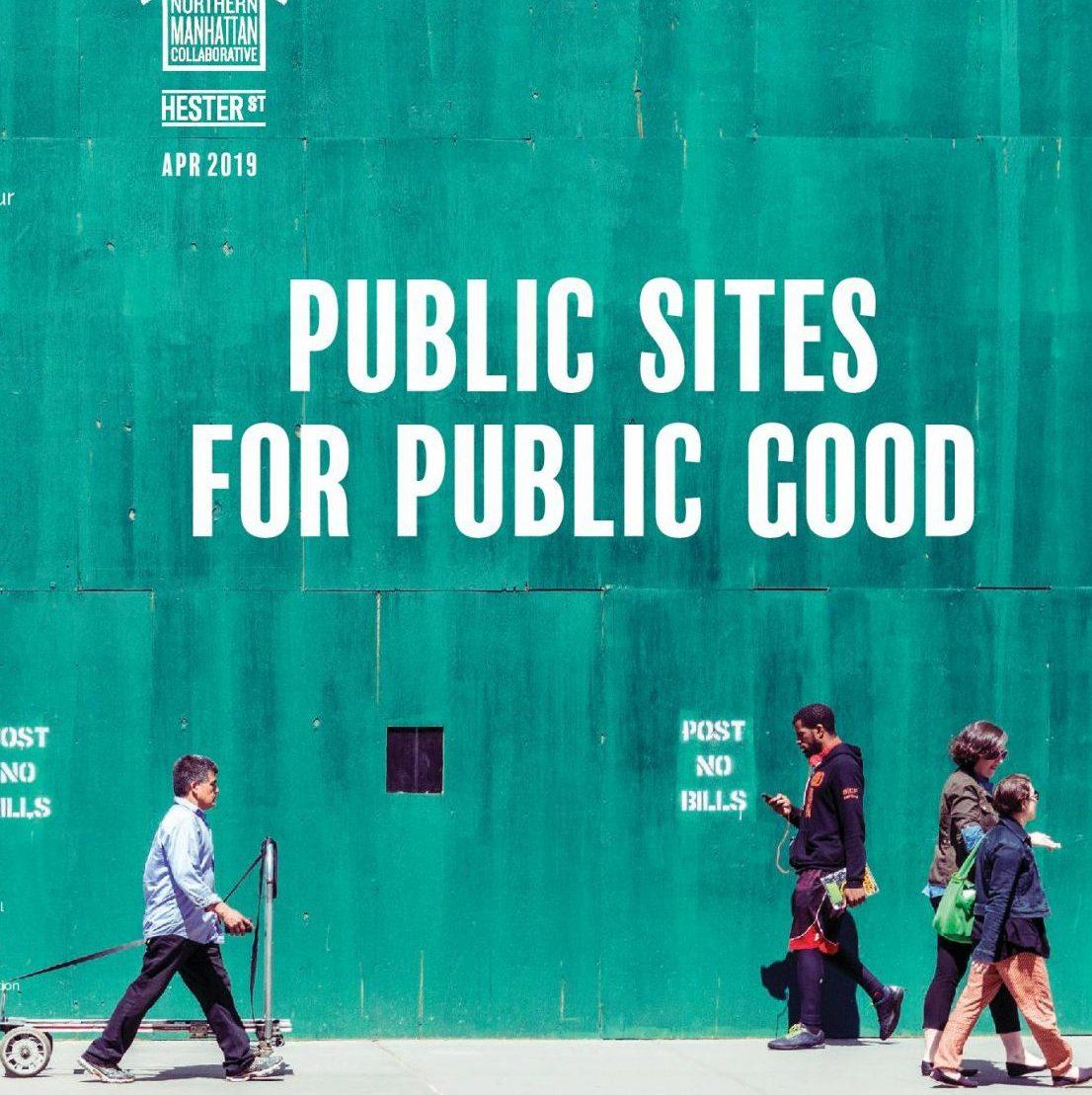 Public Sites For Public Good report cover.