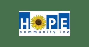 Hope Community Inc. logo.