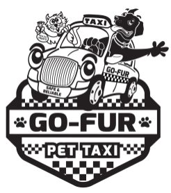 Go-Fur Pet Taxi B&W with Number