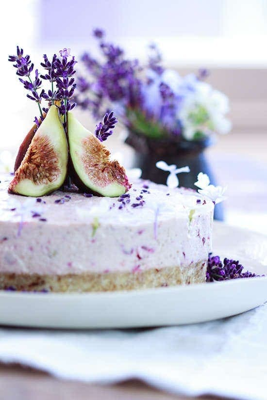 Raw Fig Cherry Lavender Cake-21
