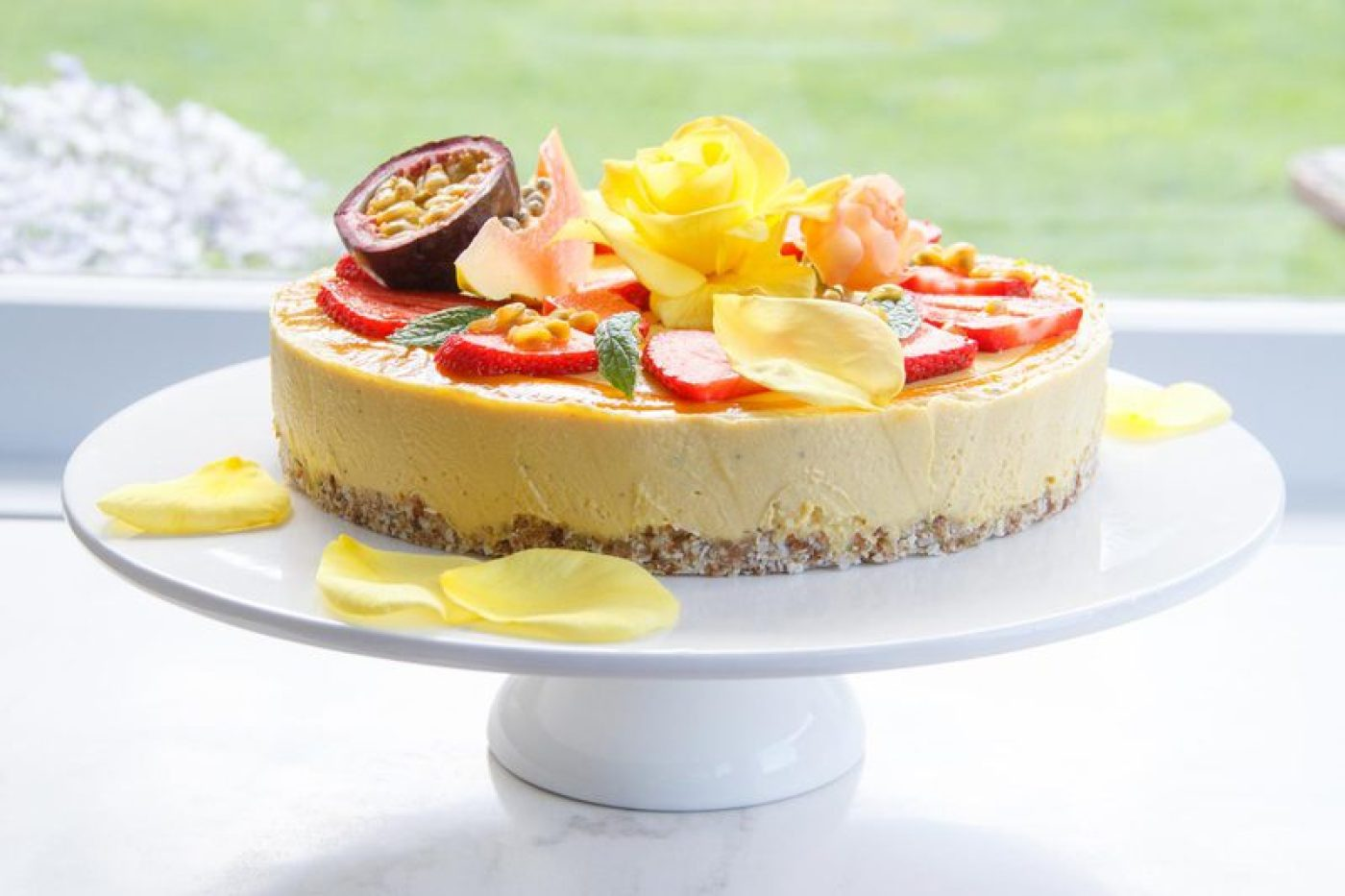 Raw Mango and Passionfruit Cake - Vegan