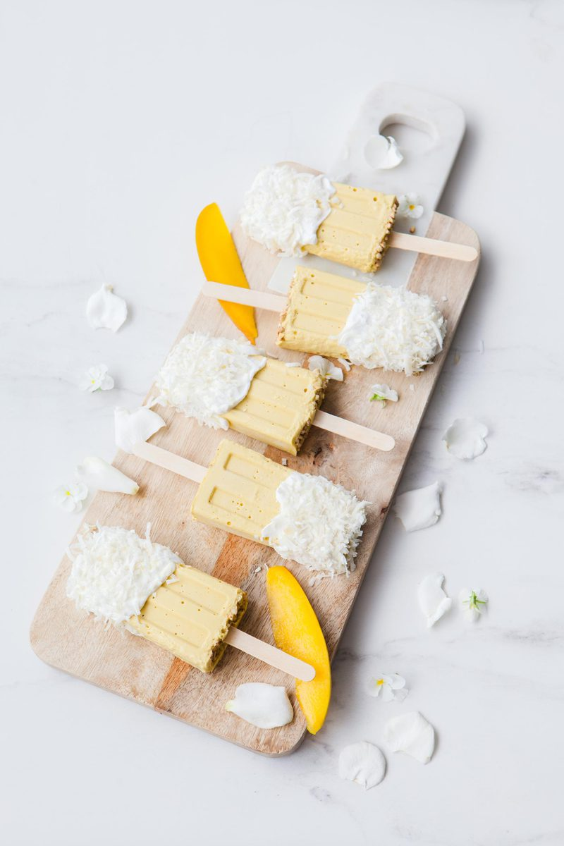 Mango Coconut Milk Popsicles Sugar Free