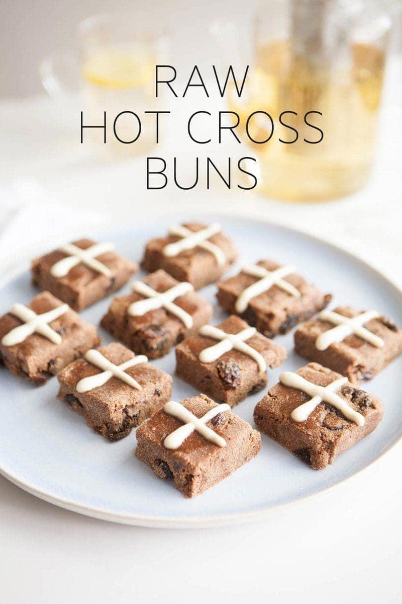 Raw Hot Cross Buns