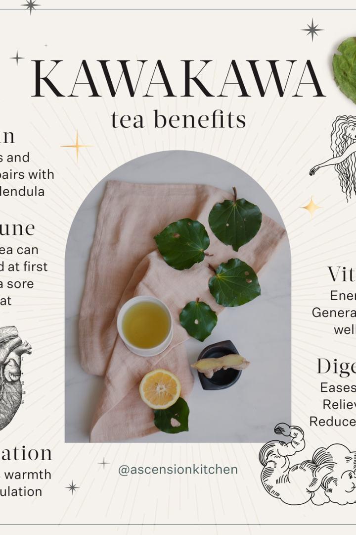Kawakawa Tea in a ceramic cup