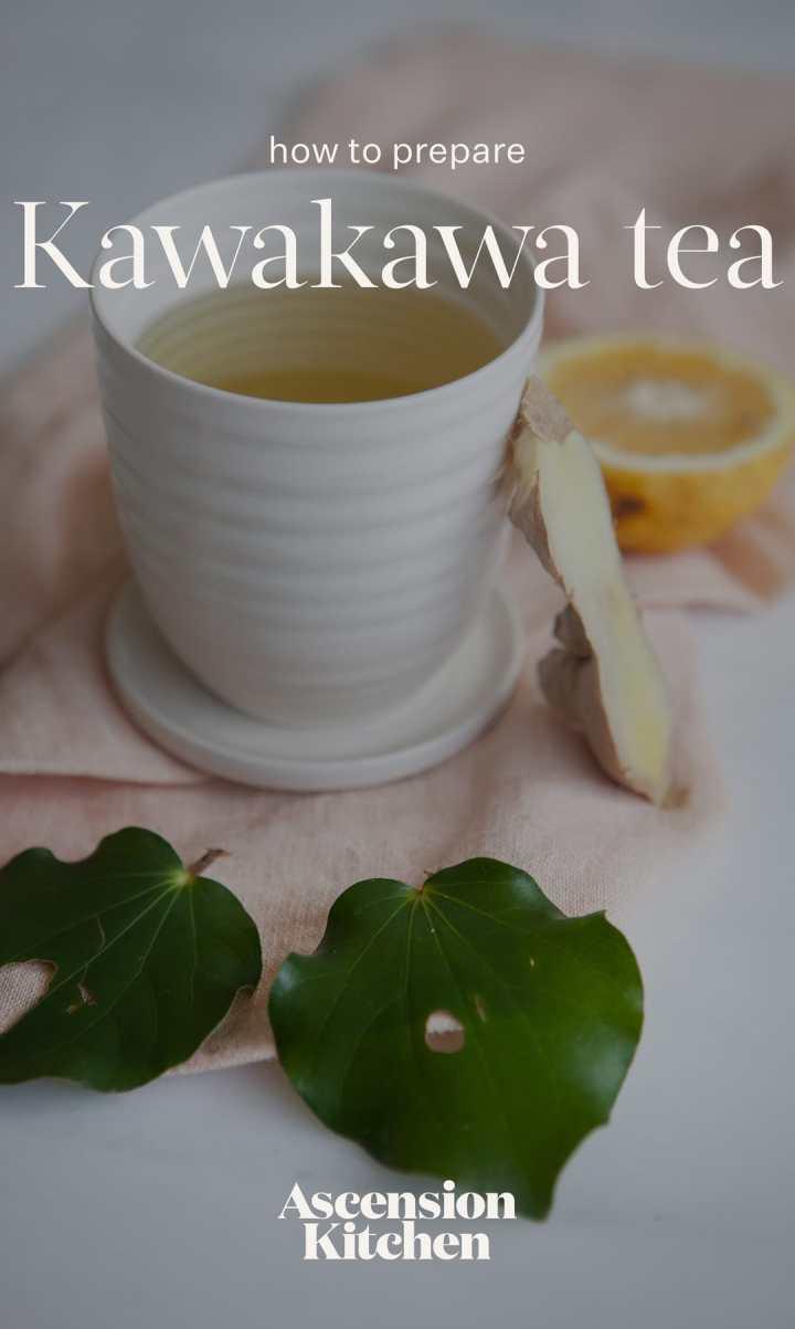 Kawakawa Tea - served with fresh lemon and ginger