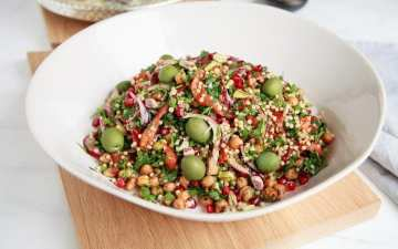 Chickpea Sorghum Salad