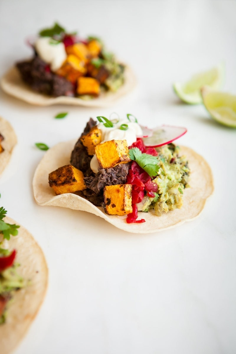 Healthy Butternut Squash Black Bean Tacos