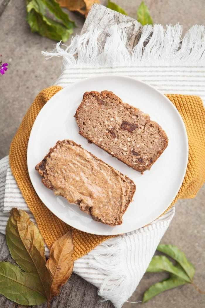 Gluten Free Coconut Date Banana Bread {Sugar free, Vegan}