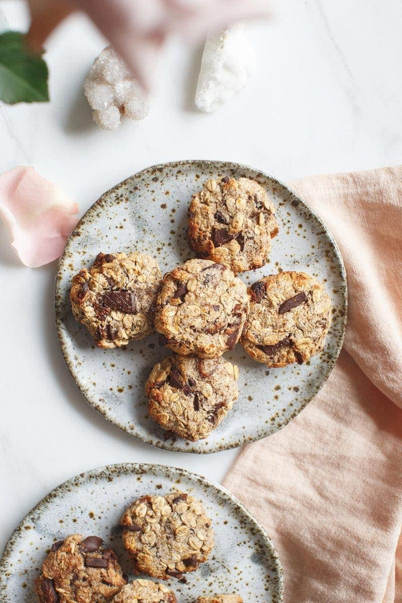 Zippy Chocolate Apricot Oat Cookies Vegan