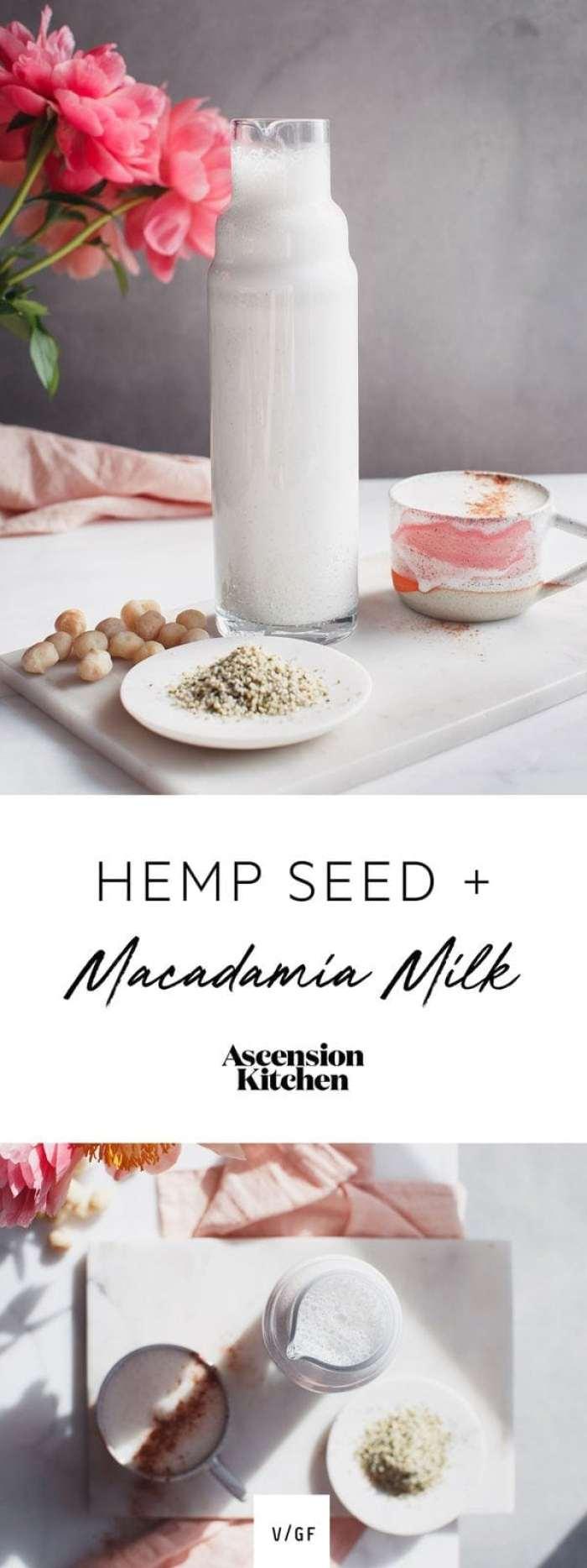 Hemp Seed Macadamia Nut Milk - Vegan milk