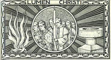 Lumen Christi woodcut drawing